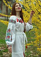 """Женское вышитое платье """"Виолетта"""" PJ-0006"""