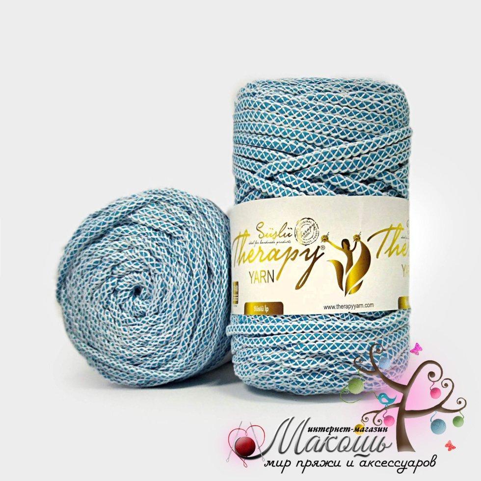 шнур для вязания с люрексом Therapy насыщенный голубой продажа