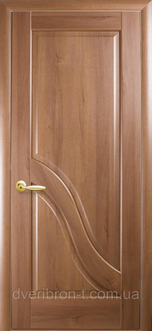Двери Новый Стиль Амата глухое золотая ольха, коллекция Маэстра Р