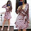 Шикарное летнее платье в горохи, размеры С (42-44) М(46-48), фото 4