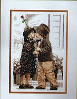 Набор для вышивания крестиком Любовь. Размер: 15,9*23,5 см
