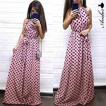 Шикарное летнее платье в горохи, размеры С (42-44) М (46-48), фото 3