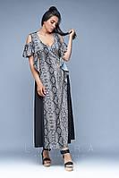 Длинное летнее платье 50-62 размеры