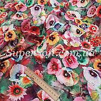 Ткань штапель принт с цветочками, фото 1