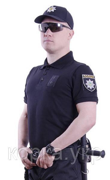 Поло футболка Полиция ХБ Черная