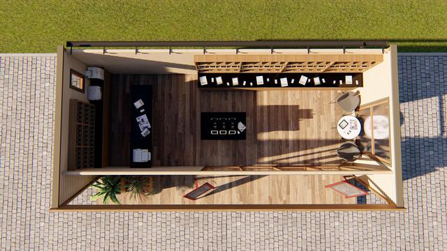 Деревянное кафе фото план