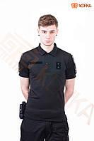 Поло футболка CoolMax Полиция Черное, фото 1