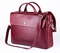 Женская кожаная сумка для ноутбука Красная Felice FL16