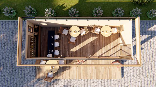 Деревянное кафе фото
