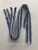 Молния металлическая  LAMPO,Италия50, 60 см. для пошива джинсовой одежды, юбок , сумок отличного качества