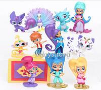 Набор фигурок 12 шт Шиммер и Шайн / Shimmer and Shine и ее друзья до 7 см игрушки для девочек