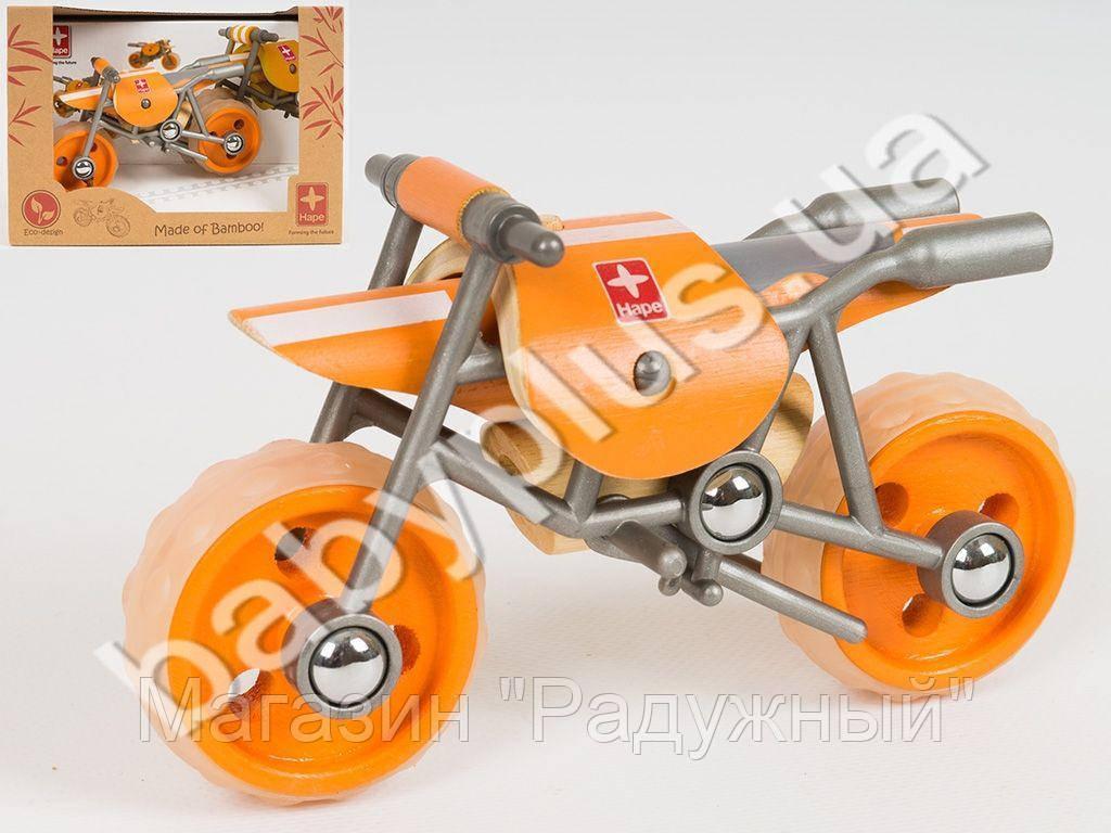 HAPE Деревянная игрушка мотоцикл E-Moto