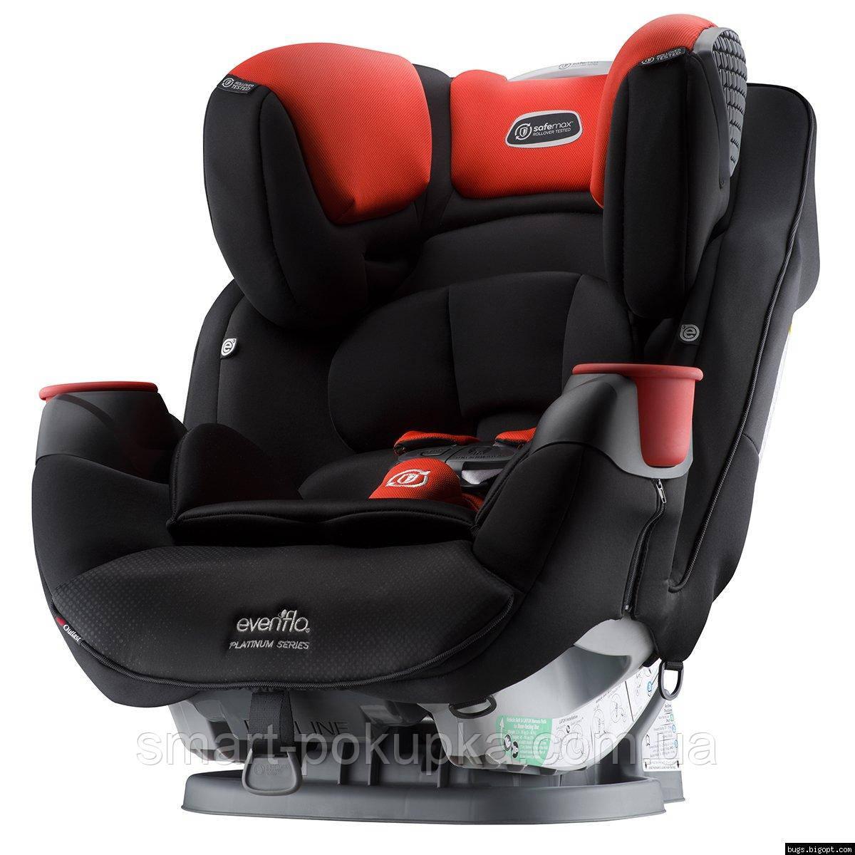 Детское автокресло Evenflo SafeMax Platinum цвет - Mason (группа от 2,2 до 49,8 кг)
