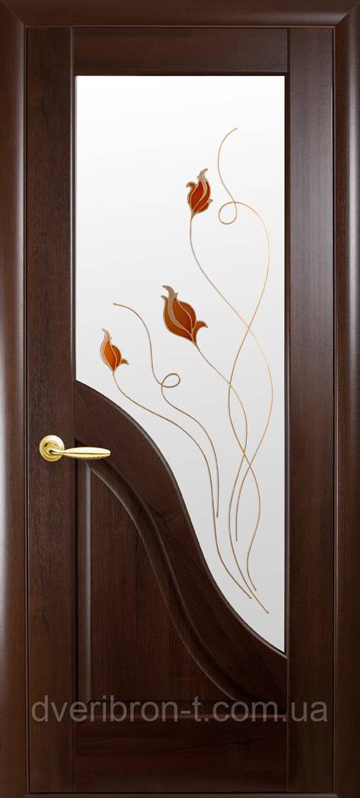 Двери Новый Стиль Амата +Р1 каштан, коллекция Маэстра Р