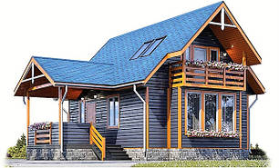 Деревянный дом из профилированного бруса