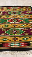 Килимова доріжка ткана шерстяна ручної роботи 196*140 см