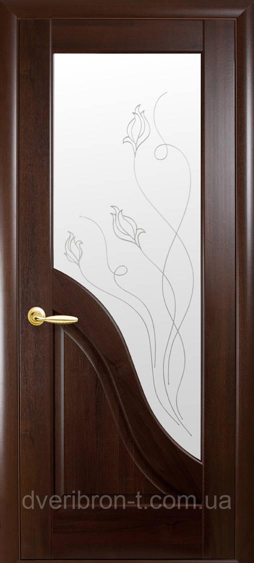 Двери Новый Стиль Амата + Р2 каштан, коллекция Маэстра Р