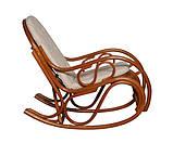 Крісло гойдалка з ротангу з подушкою, фото 2
