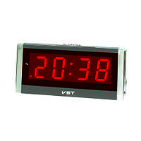 Часы сетевые 731-1 красные