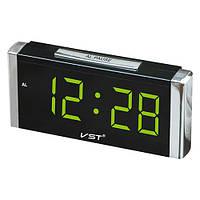 Часы сетевые 731-2 зеленые