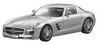 Радиоуправляемая модель Mercedes-Benz SLS AMG Coupe C197 Silver, Scale 1:24