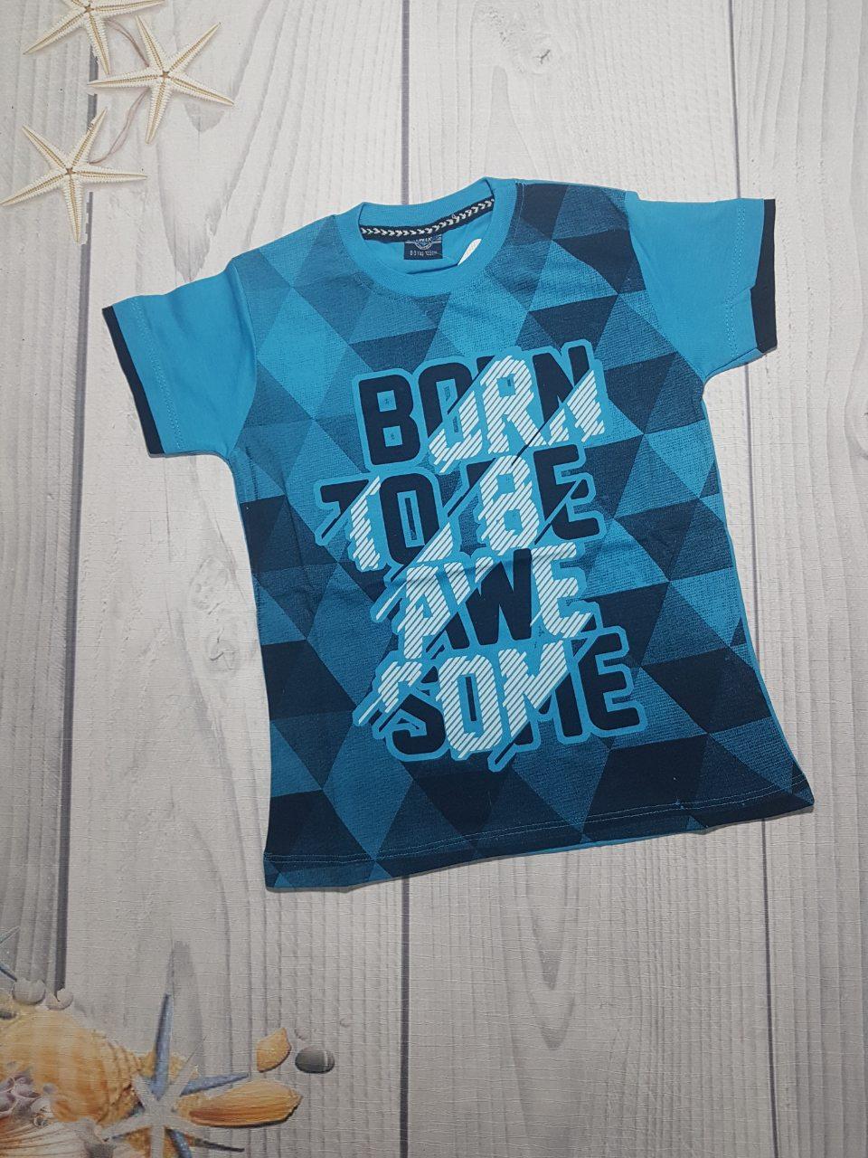 Детская футболка с модным принтом для мальчика 8-12 лет