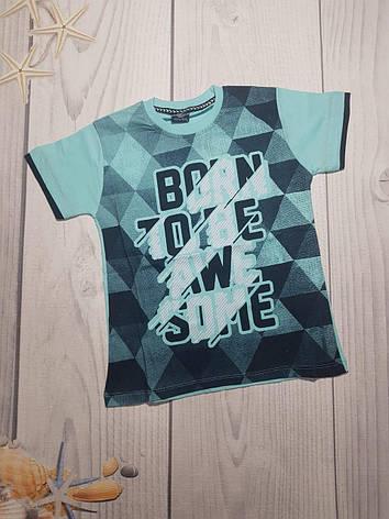 Детская футболка с модным принтом для мальчика 8-12 лет, фото 2