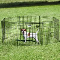 Вольер для щенков Savic ДОГ ПАРК (Dog Park), цинк, 8 панелей, 61*61см, цвет черный.