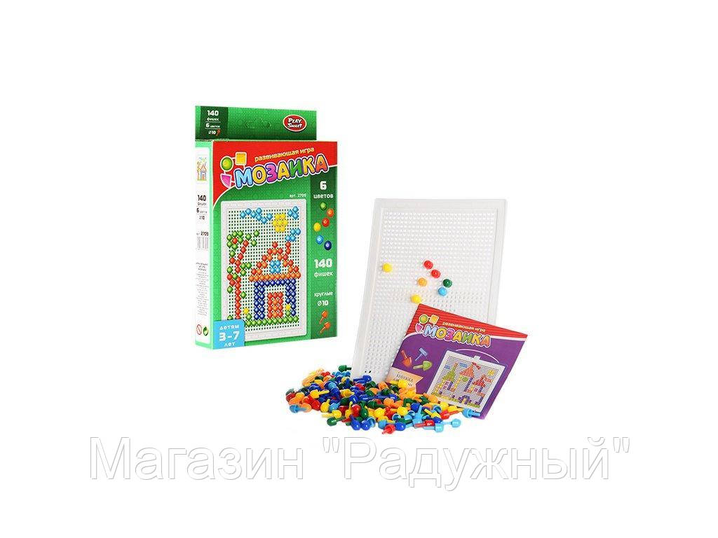 Joy Toy Мозаика 140 фишек, 6 цветов, 10мм, в кор-ке
