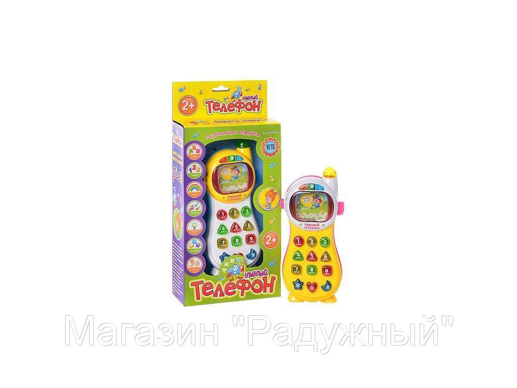 Joy Toy Умный телефон РУС, 7 функций, муз, свет, на бат-ке, в кор-ке