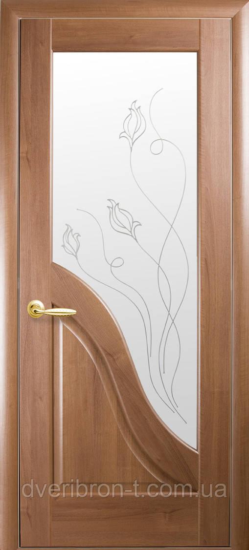 Двери Новый Стиль Амата + Р2 золотая ольха, коллекция Маэстра Р