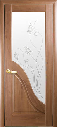 Двери Новый Стиль Амата + Р2 золотая ольха, коллекция Маэстра Р, фото 2