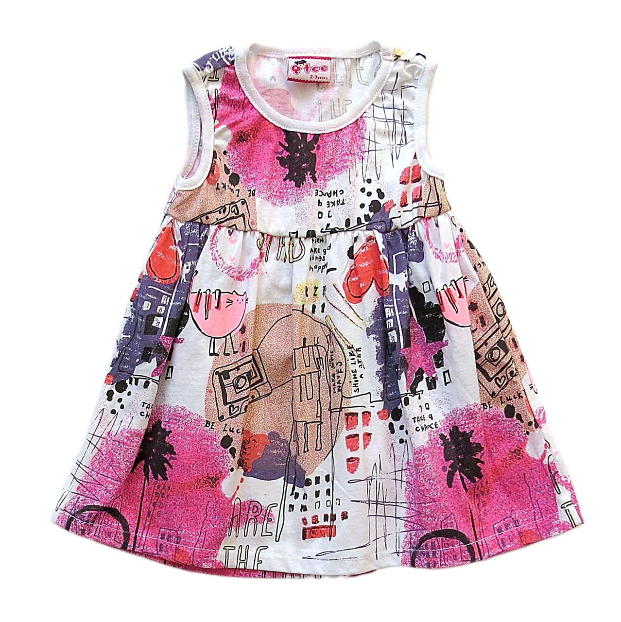 Летнее платье для девочки. Маломерит. 2 года