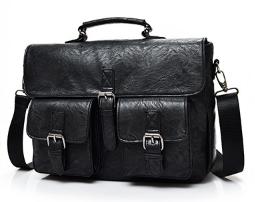Сумка-портфель с карманами черная