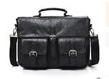 Сумка-портфель з кишенями чорна, фото 2