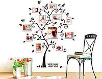 """Наклейка на стену """"Дерево Любви"""", цвет черный, красный"""