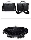 Сумка-портфель з кишенями чорна, фото 4