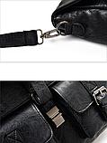 Сумка-портфель с карманами черная, фото 5