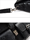 Сумка-портфель з кишенями чорна, фото 5