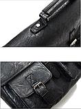 Сумка-портфель з кишенями чорна, фото 6