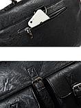 Сумка-портфель с карманами черная, фото 7