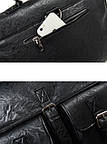 Сумка-портфель з кишенями чорна, фото 7