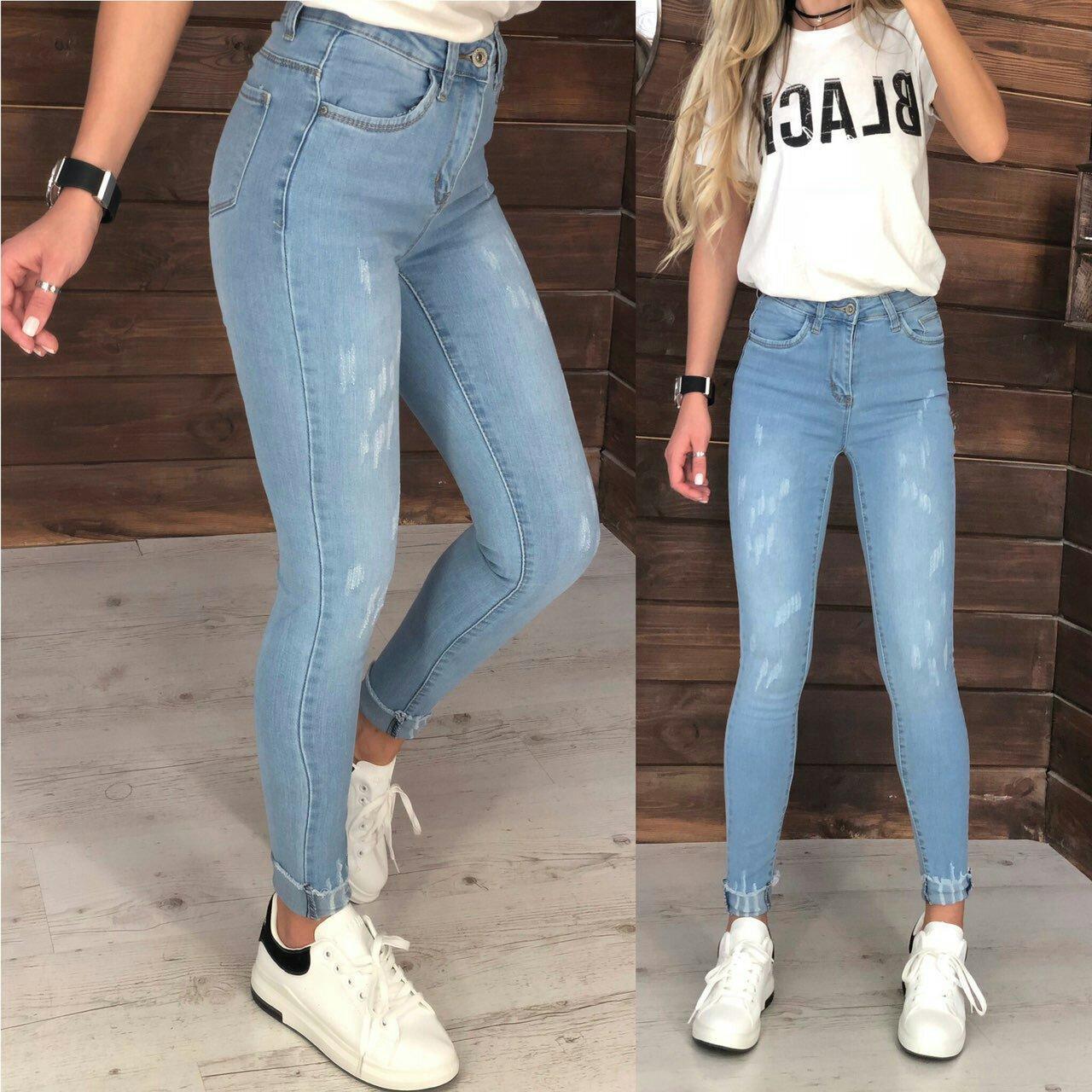 50f293a066d Голубые джинсы с высокой посадкой. Артикул  W9793  продажа