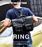 Сумка-портфель з кишенями чорна, фото 8