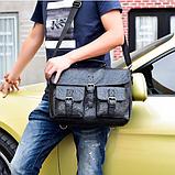 Сумка-портфель з кишенями чорна, фото 9