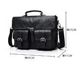 Сумка-портфель з кишенями чорна, фото 10