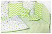 Детская постель Babyroom Bortiki lux-08 stars салатовый - белый, фото 3