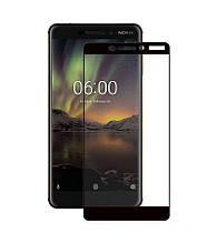 Защитное стекло Full screen PowerPlant для Nokia 6.1, Black
