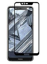 Защитное стекло Full screen PowerPlant для Nokia 5.1 Plus, Black