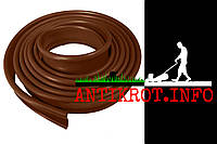 """Стрічка бордюрна """"ЕКОБОРДЮР. ТИП 2"""" (трубка 12 мм), 10 м, коричневий"""